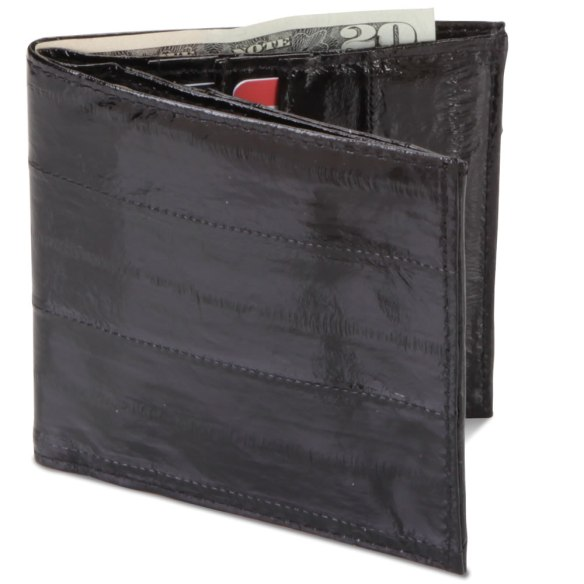 """Eel skin"" wallets demagnetized credit cards because they utilized magnetic staples in the manufacture process. The hagfish took the blame, and the fishery for them ended."